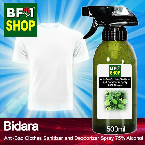 Anti-Bac Clothes Sanitizer and Deodorizer Spray (ABCSD) - 75% Alcohol with Bidara - 500ml