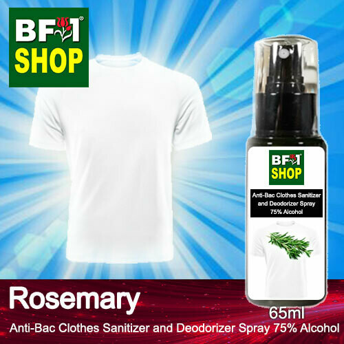 Anti-Bac Clothes Sanitizer and Deodorizer Spray (ABCSD) - 75% Alcohol with Rosemary - 65ml