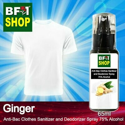 Anti-Bac Clothes Sanitizer and Deodorizer Spray (ABCSD) - 75% Alcohol with Ginger - 65ml