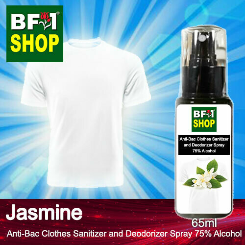 Anti-Bac Clothes Sanitizer and Deodorizer Spray (ABCSD) - 75% Alcohol with Jasmine - 65ml