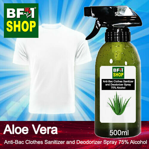 Anti-Bac Clothes Sanitizer and Deodorizer Spray (ABCSD) - 75% Alcohol with Aloe Vera - 500ml