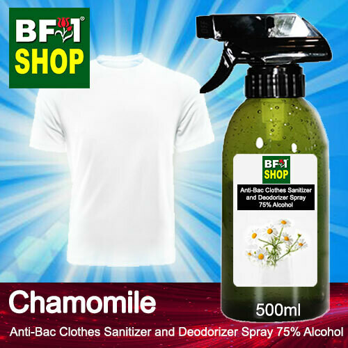 Anti-Bac Clothes Sanitizer and Deodorizer Spray (ABCSD) - 75% Alcohol with Chamomile - 500ml
