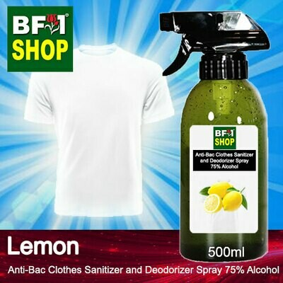 Anti-Bac Clothes Sanitizer and Deodorizer Spray (ABCSD) - 75% Alcohol with Lemon - 500ml