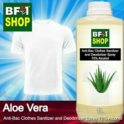 Anti-Bac Clothes Sanitizer and Deodorizer Spray (ABCSD) - 75% Alcohol with Aloe Vera - 1L