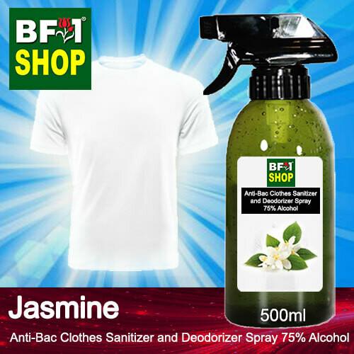 Anti-Bac Clothes Sanitizer and Deodorizer Spray (ABCSD) - 75% Alcohol with Jasmine - 500ml