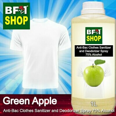 Anti-Bac Clothes Sanitizer and Deodorizer Spray (ABCSD) - 75% Alcohol with Apple - Green Apple - 1L