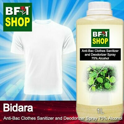 Anti-Bac Clothes Sanitizer and Deodorizer Spray (ABCSD) - 75% Alcohol with Bidara - 1L