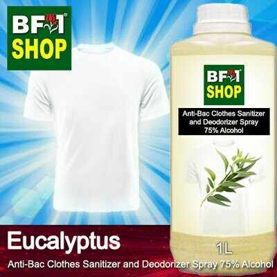 Anti-Bac Clothes Sanitizer and Deodorizer Spray (ABCSD) - 75% Alcohol with Eucalyptus - 1L