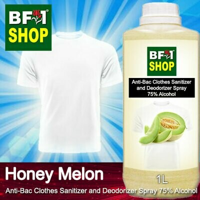 Anti-Bac Clothes Sanitizer and Deodorizer Spray (ABCSD) - 75% Alcohol with Honey Melon - 1L