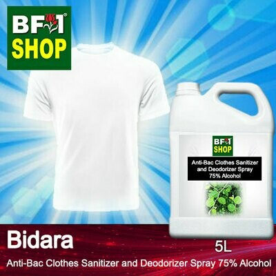 Anti-Bac Clothes Sanitizer and Deodorizer Spray (ABCSD) - 75% Alcohol with Bidara - 5L