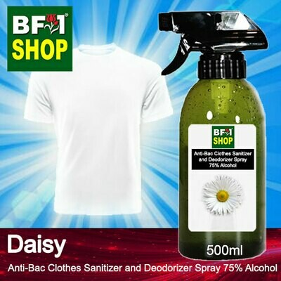 Anti-Bac Clothes Sanitizer and Deodorizer Spray (ABCSD) - 75% Alcohol with Daisy - 500ml