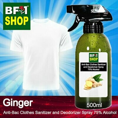 Anti-Bac Clothes Sanitizer and Deodorizer Spray (ABCSD) - 75% Alcohol with Ginger - 500ml