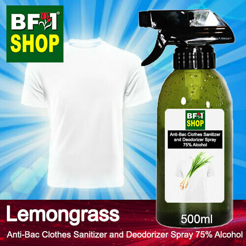 Anti-Bac Clothes Sanitizer and Deodorizer Spray (ABCSD) - 75% Alcohol with Lemongrass - 500ml