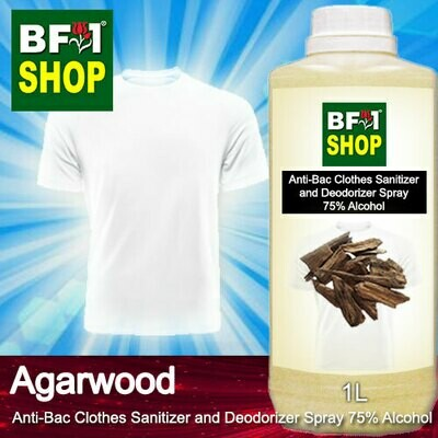 Anti-Bac Clothes Sanitizer and Deodorizer Spray (ABCSD) - 75% Alcohol with Agarwood - 1L