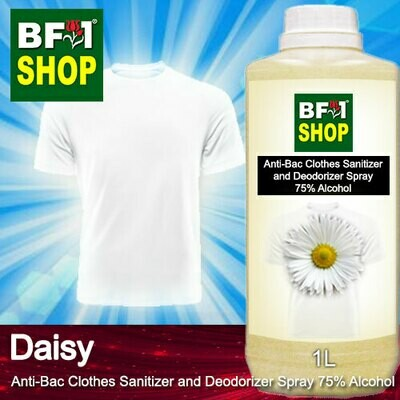 Anti-Bac Clothes Sanitizer and Deodorizer Spray (ABCSD) - 75% Alcohol with Daisy - 1L