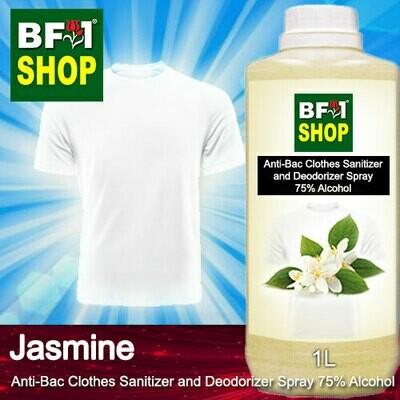 Anti-Bac Clothes Sanitizer and Deodorizer Spray (ABCSD) - 75% Alcohol with Jasmine - 1L