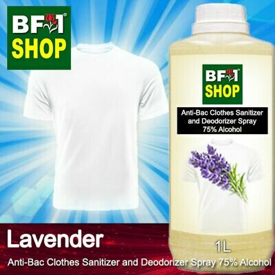 Anti-Bac Clothes Sanitizer and Deodorizer Spray (ABCSD) - 75% Alcohol with Lavender - 1L