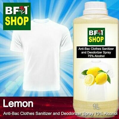 Anti-Bac Clothes Sanitizer and Deodorizer Spray (ABCSD) - 75% Alcohol with Lemon - 1L