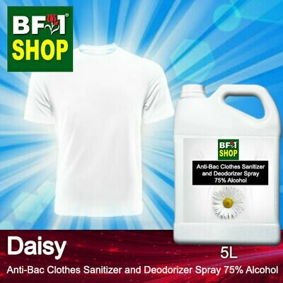 Anti-Bac Clothes Sanitizer and Deodorizer Spray (ABCSD) - 75% Alcohol with Daisy - 5L