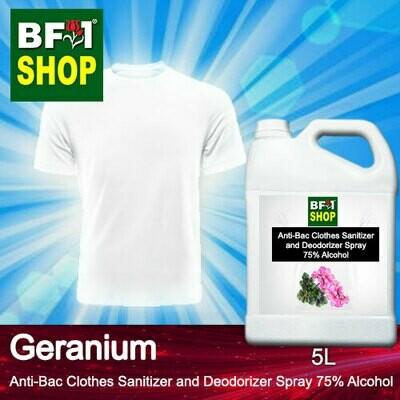 Anti-Bac Clothes Sanitizer and Deodorizer Spray (ABCSD) - 75% Alcohol with Geranium - 5L