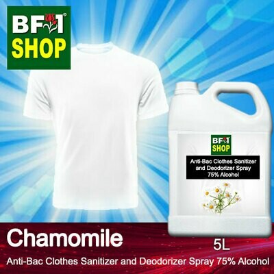 Anti-Bac Clothes Sanitizer and Deodorizer Spray (ABCSD) - 75% Alcohol with Chamomile - 5L