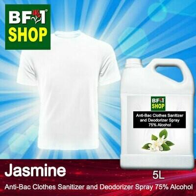 Anti-Bac Clothes Sanitizer and Deodorizer Spray (ABCSD) - 75% Alcohol with Jasmine - 5L