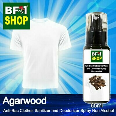 Anti-Bac Clothes Sanitizer and Deodorizer Spray (ABCSD) - Non Alcohol with Agarwood - 65ml