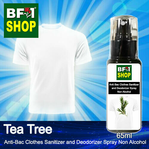 Anti-Bac Clothes Sanitizer and Deodorizer Spray (ABCSD) - Non Alcohol with Tea Tree - 65ml