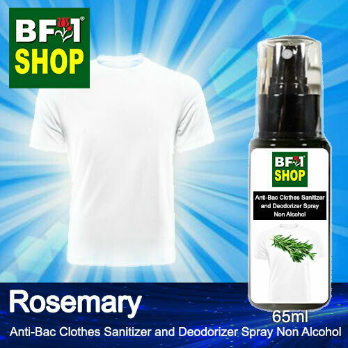 Anti-Bac Clothes Sanitizer and Deodorizer Spray (ABCSD) - Non Alcohol with Rosemary - 65ml