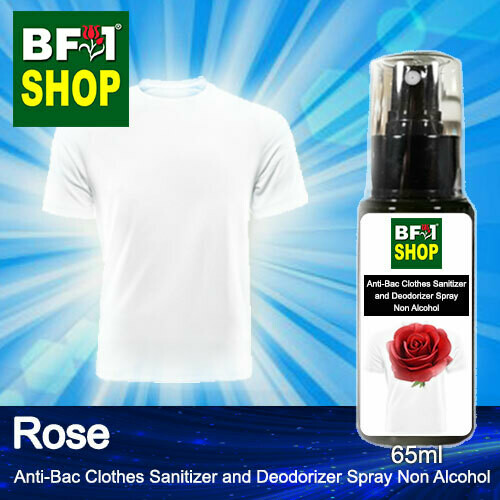 Anti-Bac Clothes Sanitizer and Deodorizer Spray (ABCSD) - Non Alcohol with Rose - 65ml