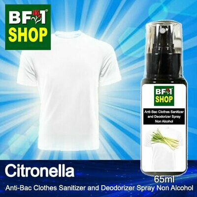 Anti-Bac Clothes Sanitizer and Deodorizer Spray (ABCSD) - Non Alcohol with Citronella - 65ml