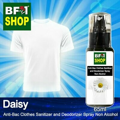 Anti-Bac Clothes Sanitizer and Deodorizer Spray (ABCSD) - Non Alcohol with Daisy - 65ml