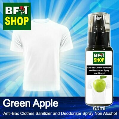Anti-Bac Clothes Sanitizer and Deodorizer Spray (ABCSD) - Non Alcohol with Apple - Green Apple - 65ml