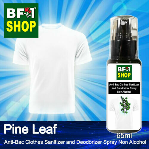 Anti-Bac Clothes Sanitizer and Deodorizer Spray (ABCSD) - Non Alcohol with Pine Leaf - 65ml