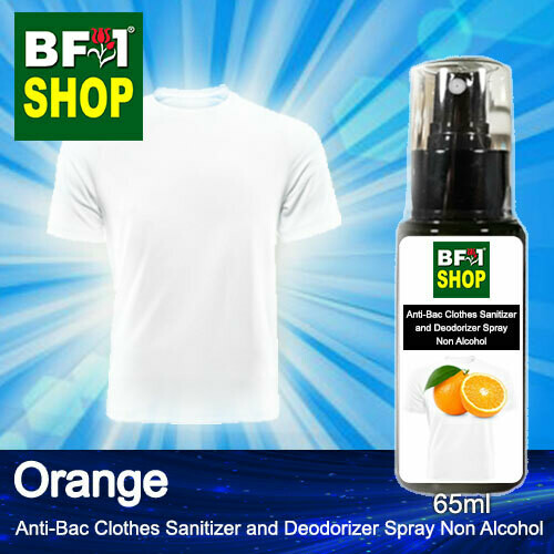 Anti-Bac Clothes Sanitizer and Deodorizer Spray (ABCSD) - Non Alcohol with Orange - 65ml