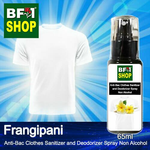 Anti-Bac Clothes Sanitizer and Deodorizer Spray (ABCSD) - Non Alcohol with Frangipani - 65ml