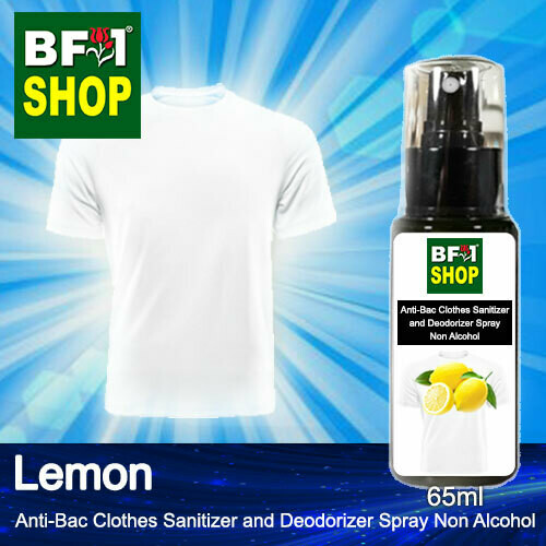 Anti-Bac Clothes Sanitizer and Deodorizer Spray (ABCSD) - Non Alcohol with Lemon - 65ml