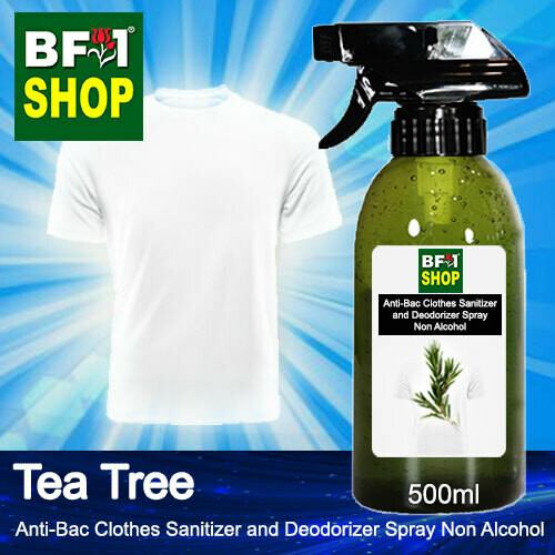 Anti-Bac Clothes Sanitizer and Deodorizer Spray (ABCSD) - Non Alcohol with Tea Tree - 500ml