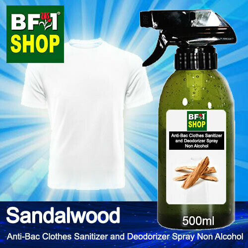 Anti-Bac Clothes Sanitizer and Deodorizer Spray (ABCSD) - Non Alcohol with Sandalwood - 500ml