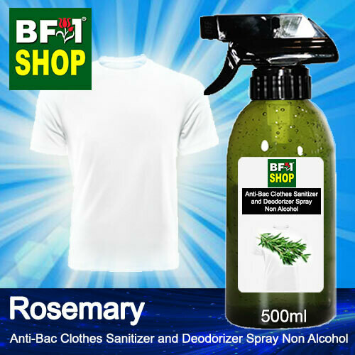 Anti-Bac Clothes Sanitizer and Deodorizer Spray (ABCSD) - Non Alcohol with Rosemary - 500ml