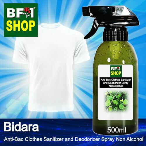 Anti-Bac Clothes Sanitizer and Deodorizer Spray (ABCSD) - Non Alcohol with Bidara - 500ml
