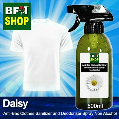 Anti-Bac Clothes Sanitizer and Deodorizer Spray (ABCSD) - Non Alcohol with Daisy - 500ml
