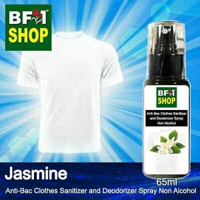 Anti-Bac Clothes Sanitizer and Deodorizer Spray (ABCSD) - Non Alcohol with Jasmine - 65ml