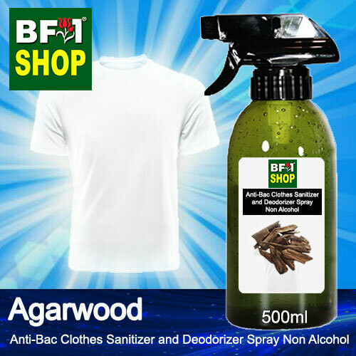 Anti-Bac Clothes Sanitizer and Deodorizer Spray (ABCSD) - Non Alcohol with Agarwood - 500ml