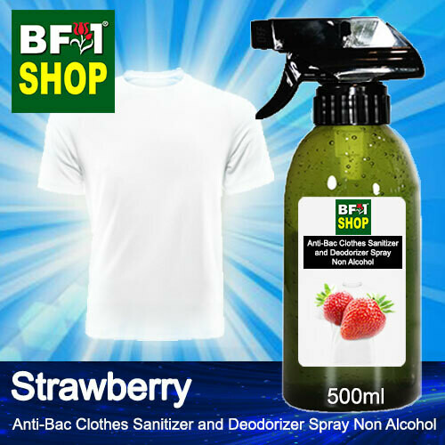 Anti-Bac Clothes Sanitizer and Deodorizer Spray (ABCSD) - Non Alcohol with Strawberry - 500ml