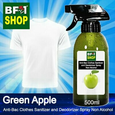 Anti-Bac Clothes Sanitizer and Deodorizer Spray (ABCSD) - Non Alcohol with Apple - Green Apple - 500ml