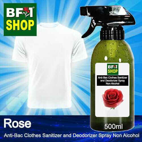 Anti-Bac Clothes Sanitizer and Deodorizer Spray (ABCSD) - Non Alcohol with Rose - 500ml