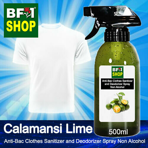 Anti-Bac Clothes Sanitizer and Deodorizer Spray (ABCSD) - Non Alcohol with lime - Calamansi Lime - 500ml