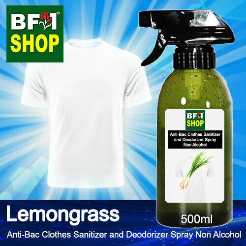 Anti-Bac Clothes Sanitizer and Deodorizer Spray (ABCSD) - Non Alcohol with Lemongrass - 500ml
