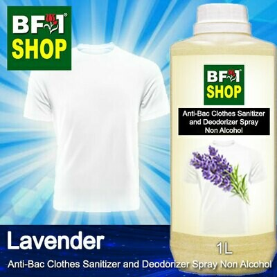 Anti-Bac Clothes Sanitizer and Deodorizer Spray (ABCSD) - Non Alcohol with Lavender - 1L